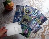 Halloween Darlings - set of 8 postcards