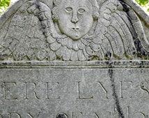 Americana Angel Art, Cemetery Art Cherub Photography, Gothic Art, Victorian Art, Headstone Wall Art, Graveyard Print, Halloween Home Decor