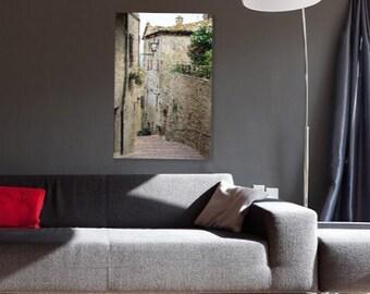 Large Italy Photography, Italian Art & Architecture, Italian Staircase, Stone Wall Photography, Italy Print, Large Wall Art, Italian Decor