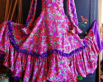 Flamenco Dress, Professional Dance, Professional Costume, size S