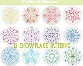 Snowflake Collection Embroidery Pattern Christmas Winter PDF