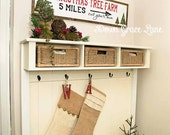 "Hand Painted Sign, Wooden With Trim, 36""x9"" CHRISTMAS TREE FARM Sign, Vintage Inspired, Holiday, Blogger, Gallery Wall"