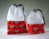 Red Bicycle At-A-Glance Knitting/Crochet/Spinning Project Bag-Large