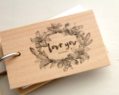 "The Lily notepad - Love you because - Mini wood notepad (3"" x 2"")"