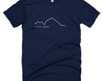 Mount Everest - Mountain Range- Men's and Women's T-shirt, Himalayas, Explore, Tibet, Nepal