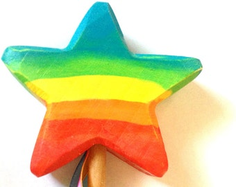 Magic wand star rainbow