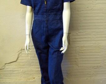 Vintage Denim Jumpsuit 1970s Deadstock  - Wild Oats size 34