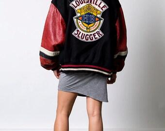 The Vintage Louisville Slugger Letterman Baseball Jacket