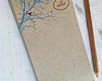 Berry Branch Birds Notes Notepad on Kraft Paper