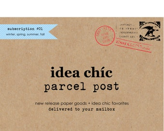 Parcel Post Delivery Seasonal Subscription by Idea Chic