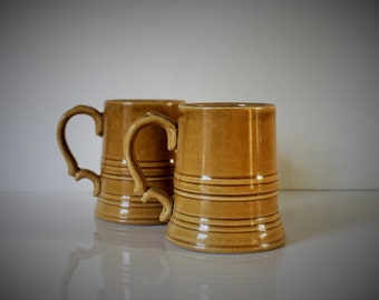 Set of two VINTAGE ceramic MUGS