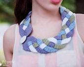 Crochet Four Braid Necklace Pattern, Braided Scarf Pattern, Crochet Collar Pattern, Scarflett Scarf Pattern, Chunky Neckwarmer Pattern