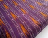 Purple Ikat Indian Fabric by The Yard, Ikat Fabric, Arrow Geometric Patterned Fabric, Indian Hand Woven Cotton, Handloom Ethnic Ikat Fabric