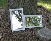 Matching Mirrors Set of 2 White almost 10x 16