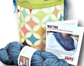 Just Add Needles Knitting Kit - Kite Festival - Limited Edition One Skein Project Bag, Yarn & Cowl Pattern