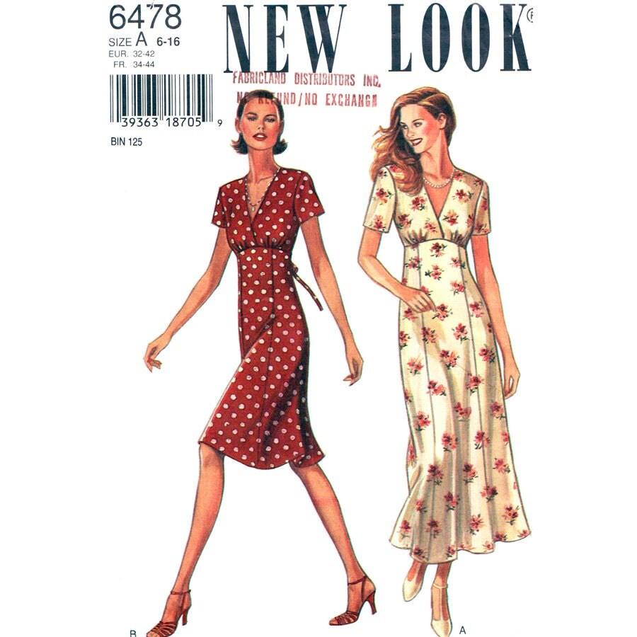 Womens Empire Waist Dress Pattern New Look By