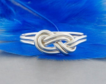 Sterling silver double love knot figure 8 promise ring