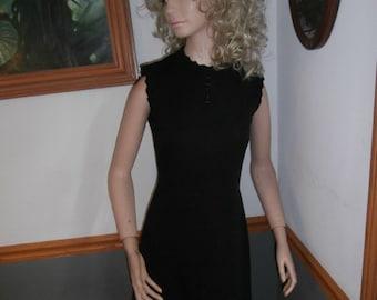 Womens  Dress-  Sleeveless- Dress-Black Cocktail Party Dress- Vintage 70's  Bleeker St Vintage Dress