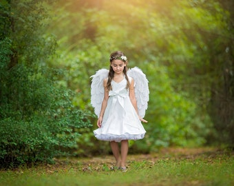 Girls Sparkle Twirl Dress, Little Angel, by SunLoveShirts