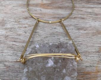 Light purple/grey Amethyst druzy necklace