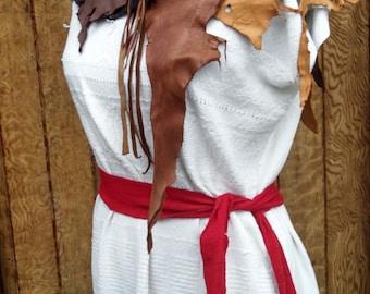 Recycled Buckskin Tribal Belt / Shrug