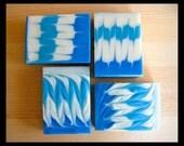 Refresh Olive Oil Soap, Eucalyptus Mint, Blue & White, Gift for Teen, Gift for Her, Gift for Him