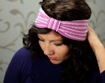 Peri Ruffle Bow Turban