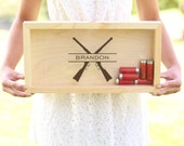 Shot Gun Shell Keeper Ammunition Box Groomsman, Groom, Best Man, Groomsmen, Father of the Bride Gift Fathers Day Christmas (NVMHDA1495)