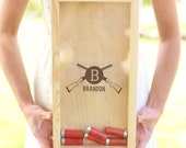 Shot Gun Shell Keeper Ammunition Box Groomsman, Groom, Best Man, Groomsmen, Father of the Bride Gift Fathers Day Christmas (NVMHDA1495-1)
