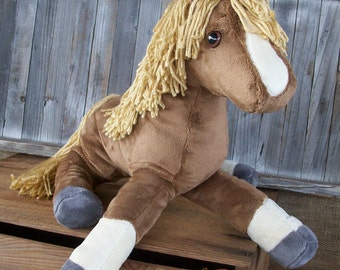 """MADE TO ORDER  Floppy Filly Plush Horse """"Ginger"""" Softie"""