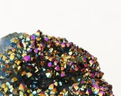 Titanium Quartz Crystal Cluster, Rainbow Quartz, Aura Crystals, Metaphysical Reiki New Age Gemstones Minerals