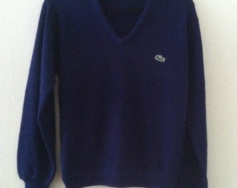 80's Navy Blue Izod Sweater