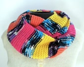 Circle Scarf Bright Stripes Infinity Cowl