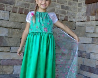 Elsa frozen fever dress princess costume dress up