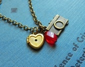 The Photographer Necklace - Adorable Camera, Vintage Heart Locket, Perfect For An Instagram Lover, Photographer, Jewelry by HoneyNest