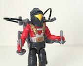 Vintage GI Joe Figure - Cobra Astro Viper - 1988 Hasbro GI Joe Action Figure with Original Accessories, File Card and Card Back