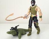 Cobra Croc Master - Vintage GI Joe Action Figure from the 1980s Hasbro Kids Toy Line - Figure with Crocodile and File Card