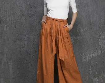Wide leg pants women – Etsy