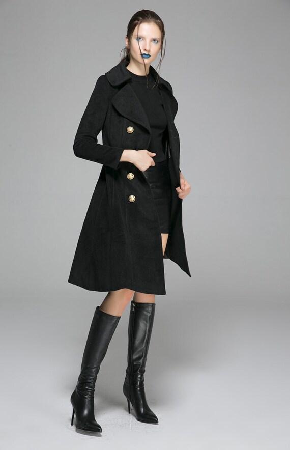 modern coat Pea coat military jacket steampunk coat double
