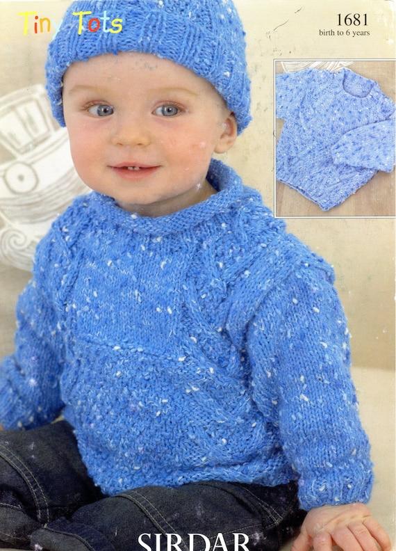 Brokemarys Sirdar Tiny Tots Dk Knitting Pattern 1681 Sweater Hat