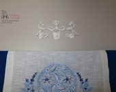 Furniture Applique or Overlay  Handmade Original without Molds in Gloss White  OOAK
