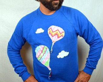 Vintage 80s Hot Air Balloon Sweatshirt