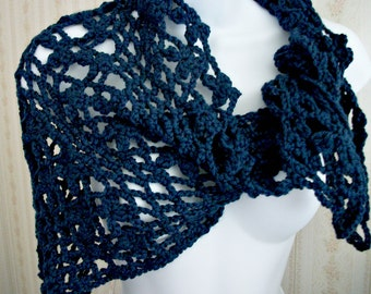 Blue Flower Kerchief for Women/Teens by AngelAndFairyDesigns on Etsy.com