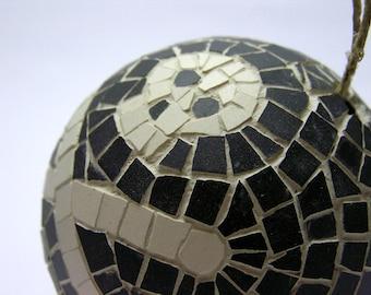 Mosaic Handmade Ornament Ball - pirate flag