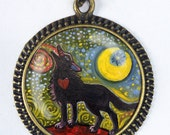 Wolf Pendant with chain by Gena Semenov