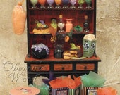 Halloween Candy Cupboard, Witches' Sweeties, Trick-or-Treat Candy, Black Cats, Vintage Style