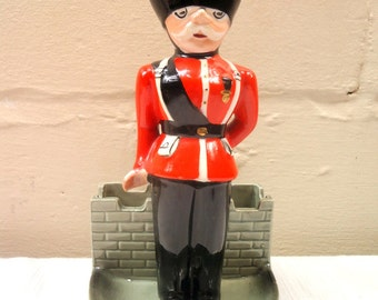 Mid Century Royal Guard/Grenadier Ashtray Cigar Holder