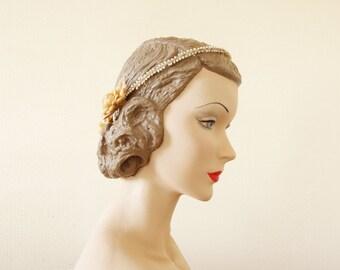 Coffret bleu bridal set || wax flowers and favoris bridal tiara || cubesandsquirrels