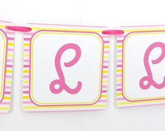 Name Banner - Made to Match You Are My Sunshine Party Birthday Banner