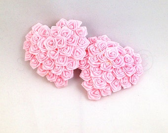 Heart Shaped Ribbon Rose Nipple Pasties - SugarKitty Couture